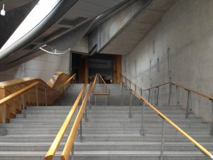 The Grand Stairs from the Garden Lobby which lead to the Debating Chamber