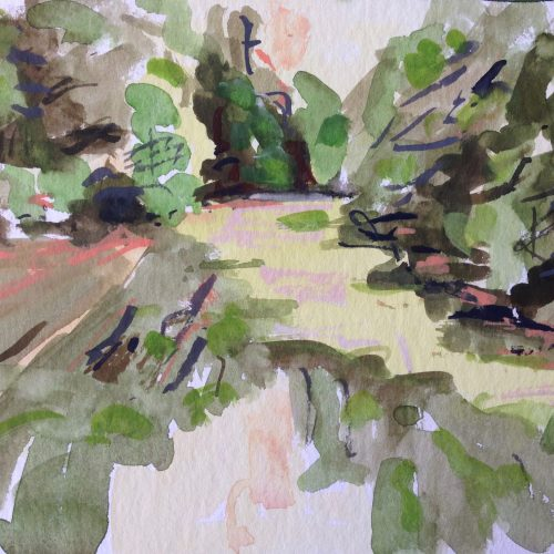 a photograph of a gouache painting title 'Druid Loch B' by artist Catherine Coulson © 2019 Catherine Coulson