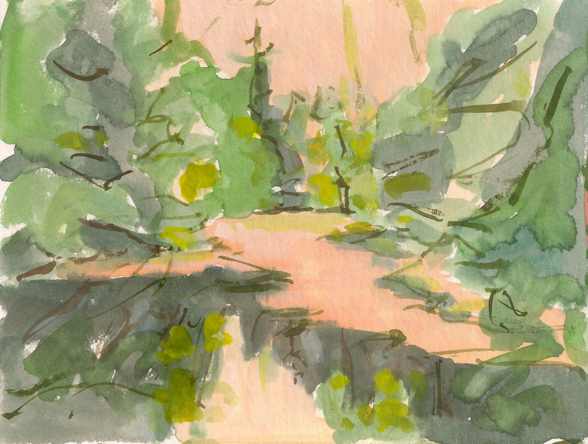 Catherine Coulson | Study of Druid Loch A | 2019 | 15x20cm | gouache on watercolour paper