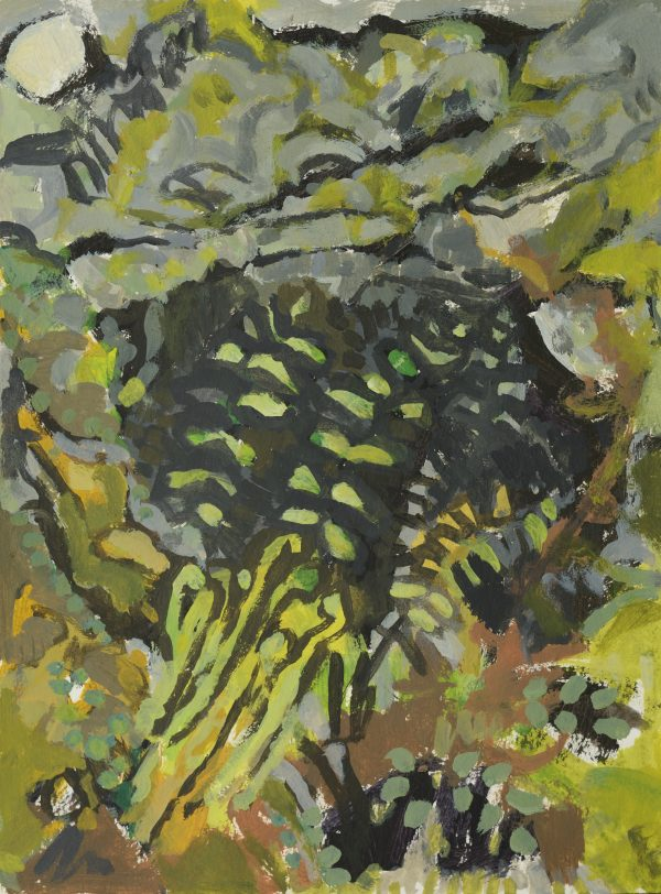 a photograph of an acrylic painting title 'Wall Ferns' by artist Catherine Coulson © 2019 Catherine Coulson