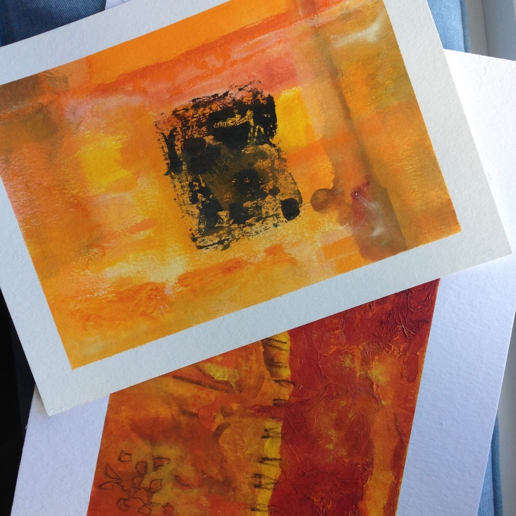 a photograph of paintings in the Patina series © Catherine Coulson catcoulson.art