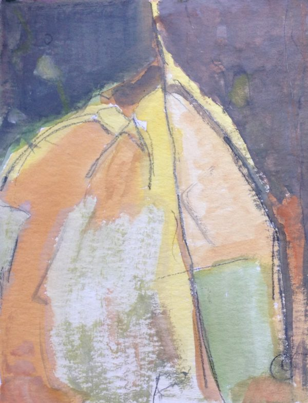 photograph of a gouache painting title 'Patina study I' by artist Catherine Coulson © 2020 Catherine Coulson catcoulson.art