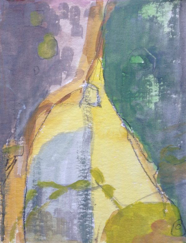 photograph of a gouache painting title 'Patina study II' by artist Catherine Coulson © 2020 Catherine Coulson catcoulson.art