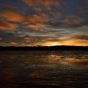 a photograph of sunset over the Rough Firth at Rockcliffe by Catherine Coulson © 2020 Catherine Coulson