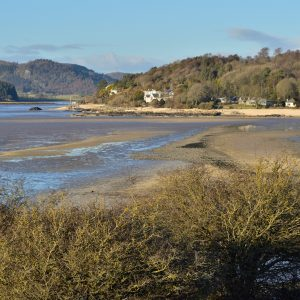 a photograph of the view towards Kippford from the causeway, Rough Island, Rockcliffe by Catherine Coulson © 2020 Catherine Coulson