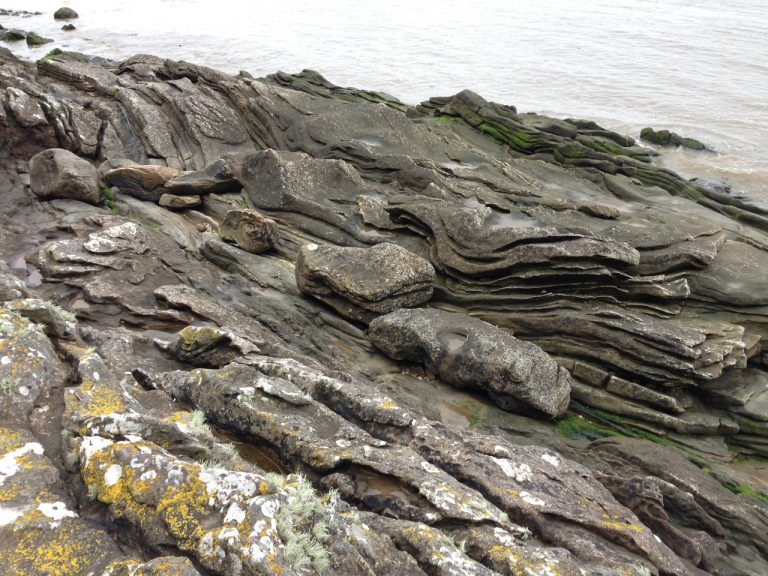a photograph of folded rock formations, Arbigland bay, October 2020 © Catherine Coulson 2020 catcoulson.art